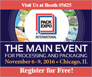 Free Registration at Pack Expo Chicago 2016!
