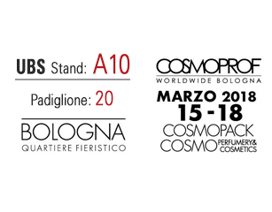United Barcode Systems is official exhibitor at Cosmopack in Bologna (15-18 MARCH 2018)