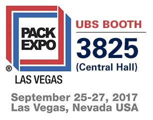 United Barcode Systems is official exhibitor at Pack Expo Las Vegas 2017 (Nevada - USA)